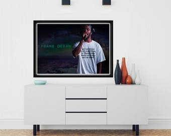 Why Be Racist Sexist Homophobic Transphobic When You Could Just Be Quite Poster, Frank Ocean Posters Prints, Gay LGBT Wall Art Decor