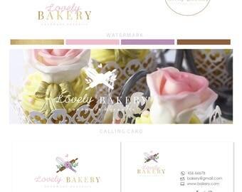 Logo design - Premade bakery stamp logo - Bakery  logo - Bakery business logo design