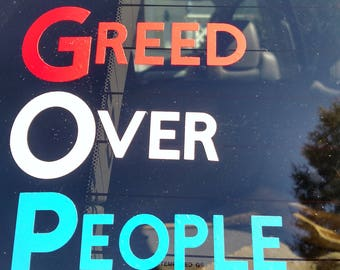 GOP - Greed Over People