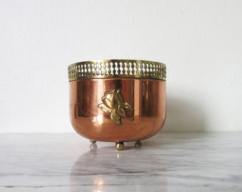 Copper Plant Decor, Vintage Brass Planter, Jungalow Planter, Succulent Planter Boho Planter Boho Plant Pot, Jungalow Plant Pot, Gift for Her