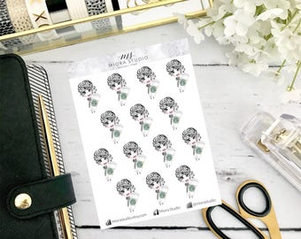 Chic-bi: Coffee Addict Planner Stickers~ for use in ECLP, Happy Planner, Travelers Notebook, hand drawn chibi