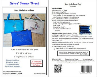 """Sewing Pattern """"Best Little Purse Ever"""" by Sisters' Common Thread"""