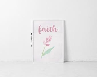 Faith, Faith, print, Islamicprint, typography