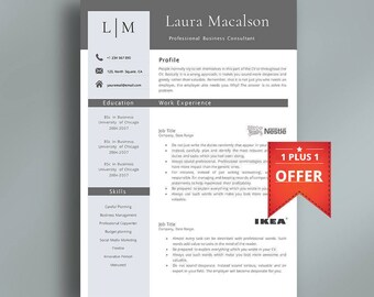 Professional Resume Template | Instant Download | Creative Resume Template | Professional CV Template | Modern Template | Easy to Edit.