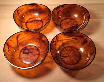 Mid-Century Faux Tortoise Shell Bowls