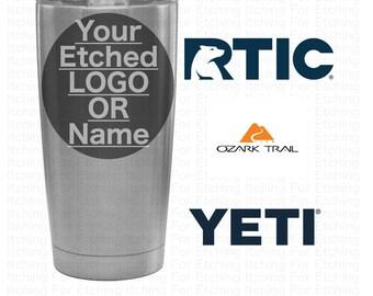 Custom Engraved / Etched 20 oz. Tumbler Thermos Bulk - RTIC Yeti Ozark Trail