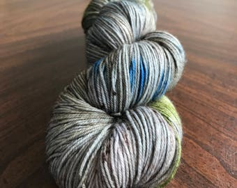Outlander Inspired, Sock Yarn, Hand Dyed, Indie Dyed, Fingering Weight Yarn - Standing Stones on Simple Sock