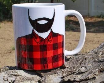 Lumberjack Mug | Father's Day Coffee Mug | Beard Coffee Mug | Bearded Coffee Mug | Beard Life Mug | Beard Fathers Day Gift | Dad Life | Dad
