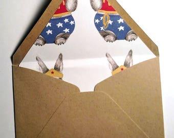 Wonder Bunny Lined Envelope