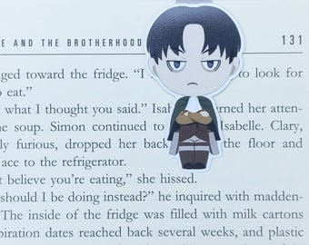 Attack on Titan - Magnetic bookmark - Levi || anime | shingeki no kyojin | bookmarks | bookish | bookmarks | aot | anime gift