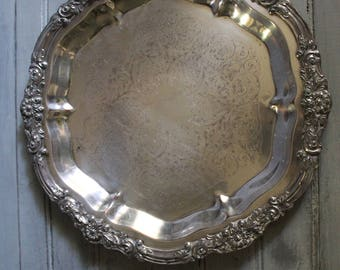 Silver Plated Round Platter