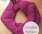Spacey Chevrons Cowl. Crochet Pattern PDF Digital Download. Easy Crochet Scarf, Ripple