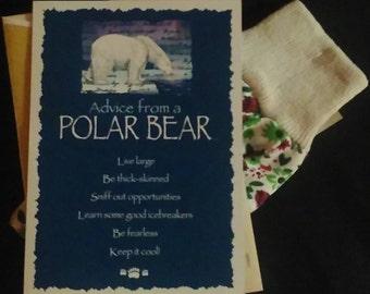 An Advice From A Polar Bear Note Card - A Pair of Women's gardening gloves