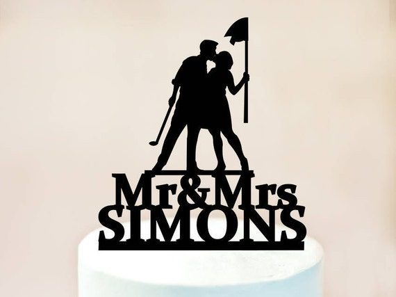 Wedding Cake Topper Cake Topper Golf Cake Topper with
