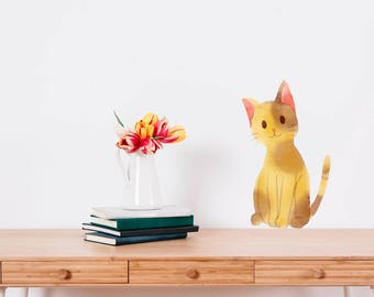 Cat Watercolour Wall Sticker