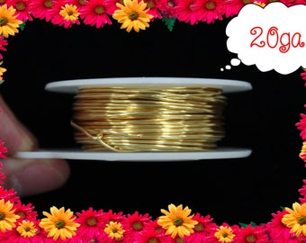 20ga 40ft Gold Wrap Wire, Gold Wrapping wire, gold Beading wire, gold Jewelry Wire,