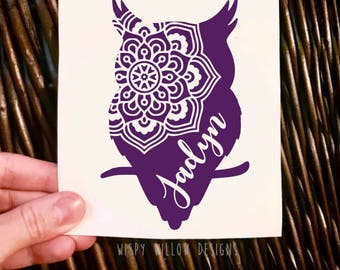 Owl Name Decal Etsy - Owl custom vinyl decals for car