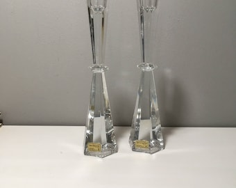 Set of two Crystal Candle holders