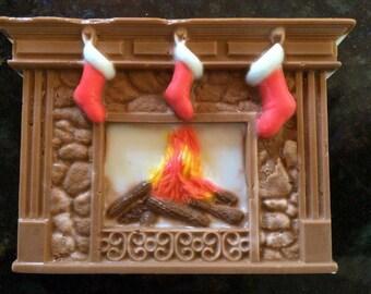 Fireplace Christmas Soap