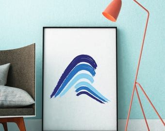 Waves, Beach Waves Art, Ocean Waves, Waves Print, Beach, Home Decor, Ocean, Coastal Wall Art, Seascape, Painting Ocean Waves, Beach Decor