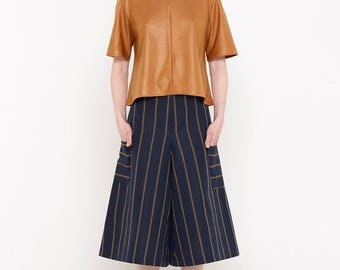 Ziba Culottes (Navy Stripes)