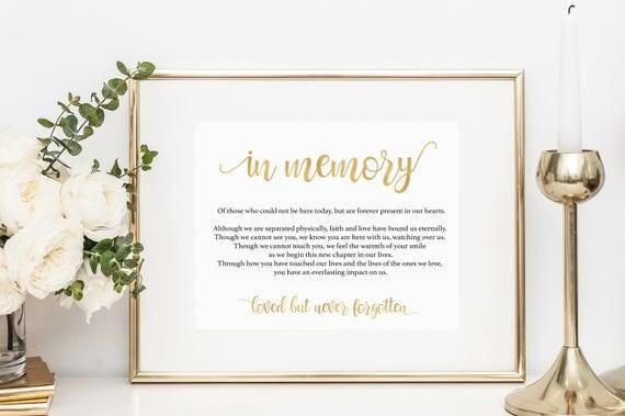In Loving Memory Sign