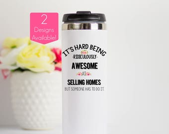 Real Estate Agent Gift, Real Estate Agent Travel Mug, Real Estate Agent Gift, Broker Stainless Steel Travel Tumbler, Closing Gifts