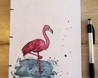 Handmade Flamingo Notebook