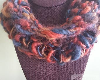 Tricolor Drop Stitch Wool Cowl