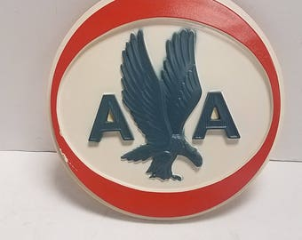 Vintage and Rare, Official  American Airlines Airport  Round Wall hanging sign