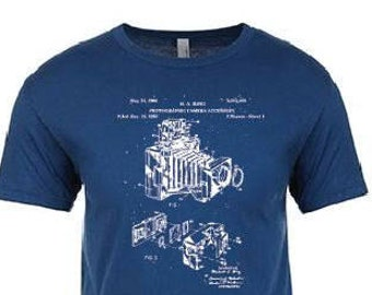 Vintage Camera Blueprint T-Shirt