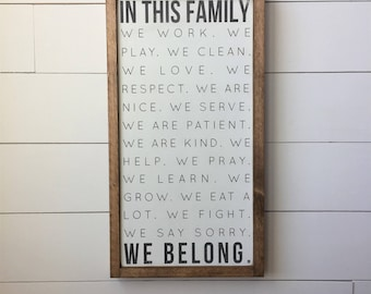 """In This Family We Belong 