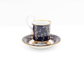 Hand Painted,Pirkenhammer,Coffee Cup,Tea Cup & Saucer,Czech porcelain
