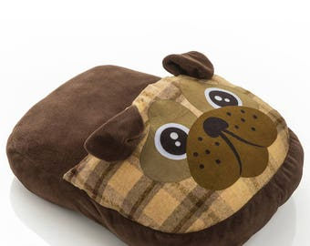 Dog shaped foot warmer 30X40X13 cm