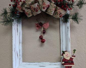 Santa Frame Wreath