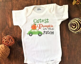 Cutest pumpkin in the patch onesie®, cutest pumpkin onesie®, cutest pumpkin in the patch outfit, pumpkin baby outfit, baby pumpkin outfit