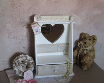 Small country style jewelry box/dressing table