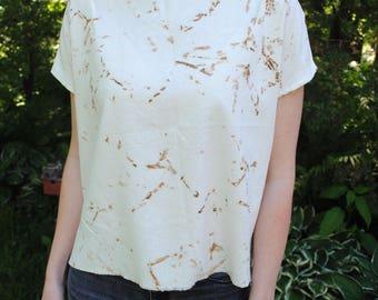 MOON | rusty nail + raw silk crop tunic