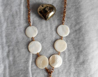 Large Mother of Pearl Statement Necklace
