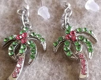Palm tree dangle earrings