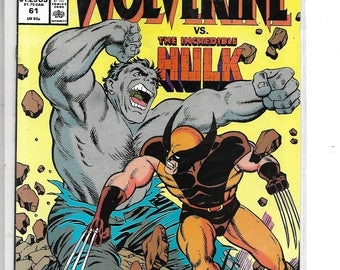 Marvel Comics Presents #61  WOLVERINE vs.HULK