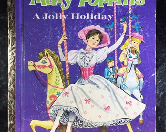 Mary Poppins A Jolly Holiday A Little Golden Book 1964