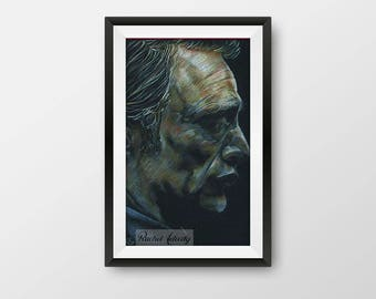 Hannibal Lecter (Mads Mikkelsen) - Original Drawing ART PRINT
