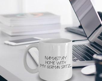 German Spitz Mug - German Spitz Gift - Namast'ay Home With My German Spitz Mug