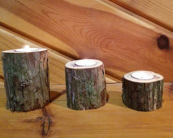 Red Cedar Tea Light Holders, Candle Holder, Rustic Candle Holder, Candleholder, Wood Candle Holder, Home Decor, Holiday Decor