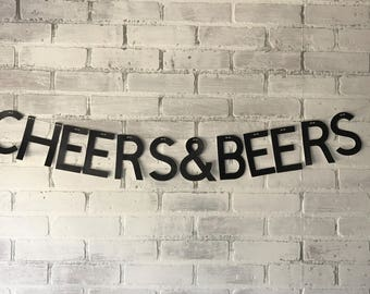 Cheers & Beers Party Banner Birthday/Shower/Bachelor/Bachelorette/Holiday Party Decor