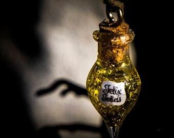 Potion Bottle Necklace - Felix Felicis