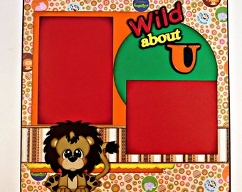 Wild About You Single Page Scrapbook Layout