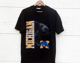 Vintage University of Michigan Puffy Ink Wolverines Tee