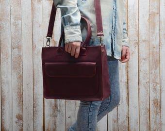 Women's Leather Bag leather handbag leather purse shoulder bag genuine leather bag brown handbag red leather natural leather gift for her